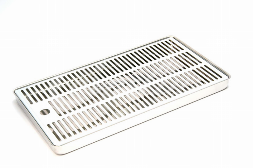 Drip tray + cup rest, SS, 307 x 187mm