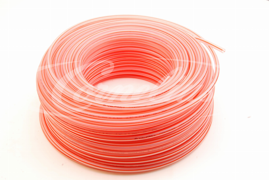 Tubing, PE, red, 6.7mm x 9.5mm