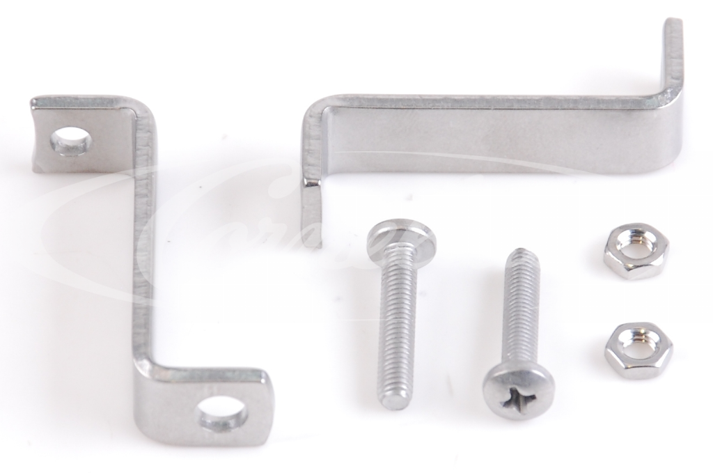 Bracket set, 50x13mm, stainless steel