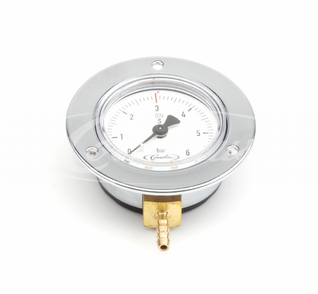 Built- in gauge, 0-6 bar, D= 71mm