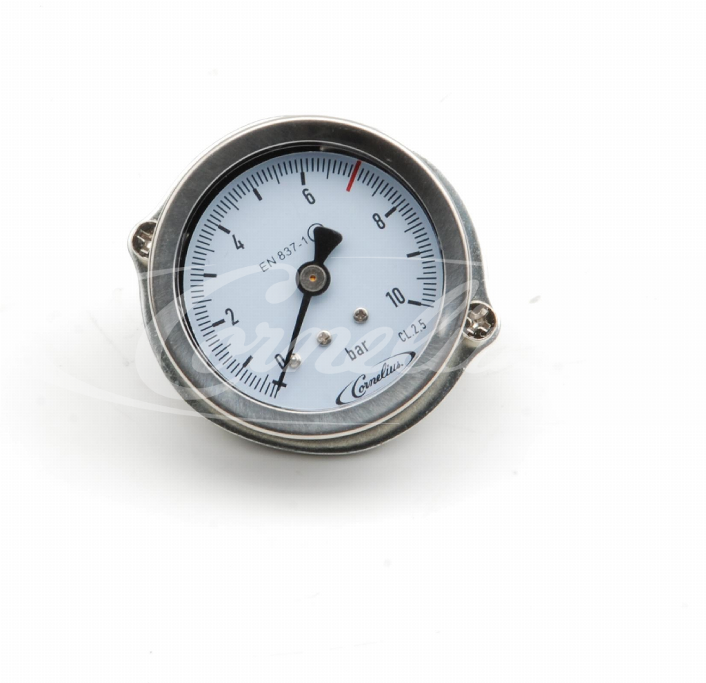 Built- in gauge, 0-10 bar, ø50mm