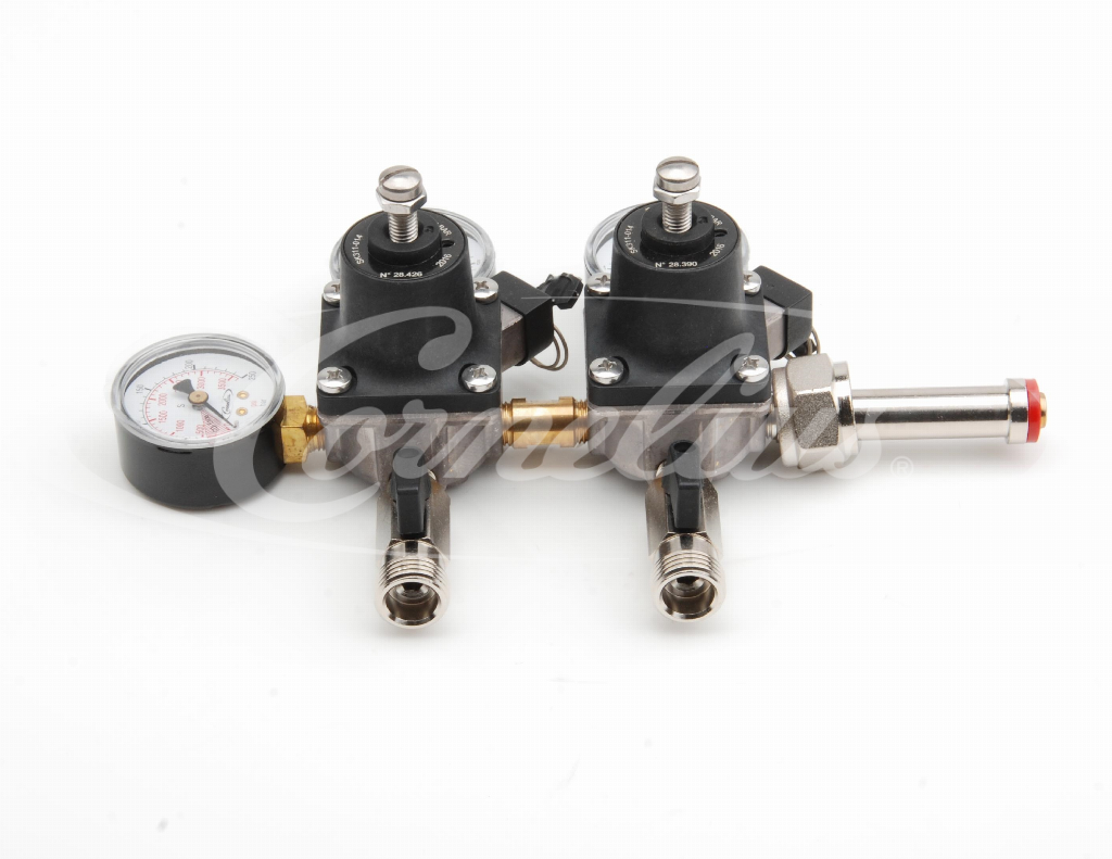 CO2 primary regulator, 1x 7bar, 1x 4bar