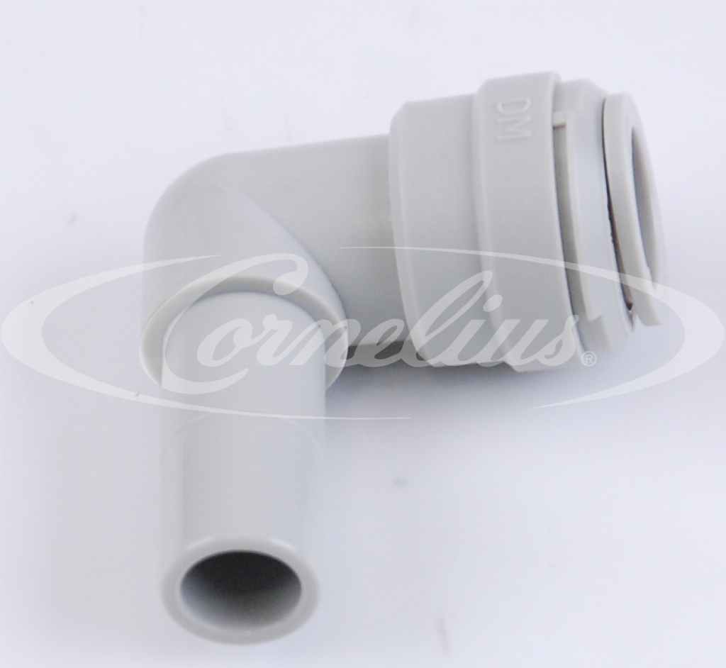 Elbow conn., OD 3/8'' x stem OD 3/8''